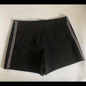 Zara Basic High Waist Black Embellished Shorts
